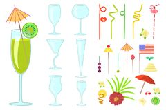 Cocktail Drink Decoration Royalty Free Stock Photos