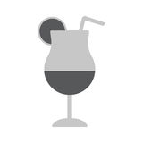 Cocktail drink icon vector illustration. Cocktail icon flat vector Illustration. Cocktail drink Royalty Free Stock Image