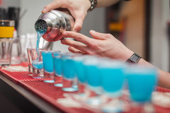 Cocktail drink. Picture with some blue cocktail drinks Royalty Free Stock Image