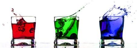 Cocktail drink splash Stock Photos
