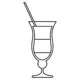 Cocktail drink traditional brazil outline. Vector illustration eps 10 vector illustration