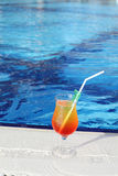Cocktail Drinks Poolside Royalty Free Stock Images