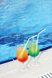 Cocktail Drinks Poolside Stock Images