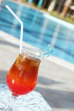 Cocktail Drinks Poolside Royalty Free Stock Photos