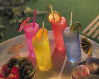 Cocktail drinks on table Royalty Free Stock Image