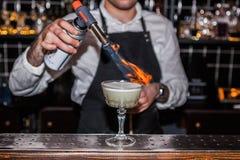 Cocktail du feu Photographie stock libre de droits