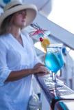 Cocktail durante il viaggio di estate Fotografie Stock