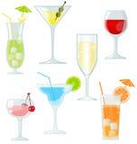 Cocktail e bebidas ilustração royalty free