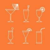 Cocktail e bebidas Ilustração do Vetor