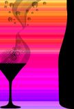 Cocktail e bottiglia Immagine Stock Libera da Diritti