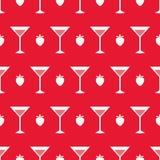 Cocktail e fragola Immagine Stock Libera da Diritti