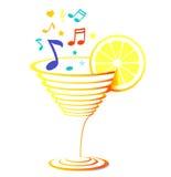 Cocktail e música Imagem de Stock