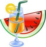 Cocktail ed anguria di estate Immagini Stock Libere da Diritti