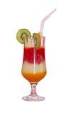 Cocktail in een glas royalty-vrije stock afbeeldingen