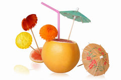 Cocktail een grapefruit Royalty-vrije Stock Afbeelding