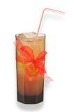 Cocktail em um vidro, limite com fita. Imagens de Stock Royalty Free
