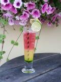 Cocktail em uma tabela exterior imagens de stock royalty free