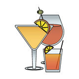 Cocktail in embellished glass icon image Royalty Free Stock Images