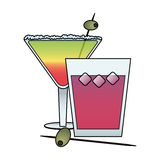 Cocktail in embellished glass icon image Stock Photography