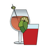 Cocktail in embellished glass icon image Stock Images