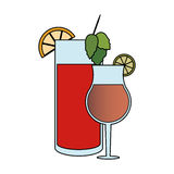 Cocktail in embellished glass icon image Stock Photos