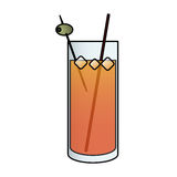 Cocktail in embellished glass icon image Royalty Free Stock Photography