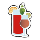 Cocktail in embellished glass icon image Stock Photo