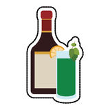 Cocktail in embellished glass icon image Royalty Free Stock Photos