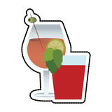 Cocktail in embellished glass icon image Stock Image