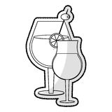 Cocktail in embellished glass icon image Royalty Free Stock Photo