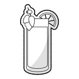 Cocktail in embellished glass icon image Royalty Free Stock Image