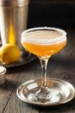 Cocktail embriagado de refrescamento do side-car fotografia de stock