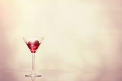Cocktail en Art Deco Glass Images libres de droits