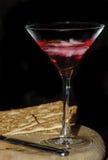 Cocktail en crackers royalty-vrije stock afbeelding