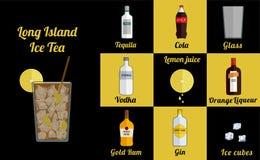 Cocktail en jus carré illustration de vecteur