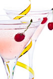 Cocktail en kers Royalty-vrije Stock Foto's