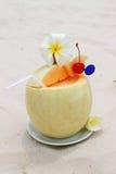 Cocktail en melon Photographie stock
