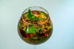 Cocktail en verre photo stock