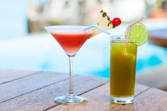 Cocktail esotici Fotografia Stock Libera da Diritti
