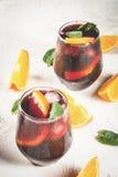 Cocktail espagnol traditionnel, Tinto de verano Photographie stock libre de droits