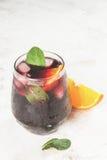 Cocktail espagnol traditionnel, Tinto de verano Photos stock