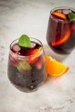 Cocktail espagnol traditionnel, Tinto de verano Photo stock
