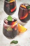 Cocktail espagnol traditionnel, Tinto de verano Photo libre de droits