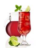 Cocktail et cruche photo libre de droits
