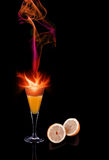 Cocktail fire Royalty Free Stock Photo