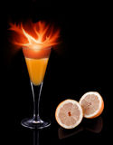 Cocktail fire Royalty Free Stock Photos