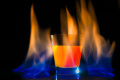 Cocktail flame Royalty Free Stock Image