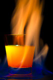 Cocktail flame Royalty Free Stock Photography
