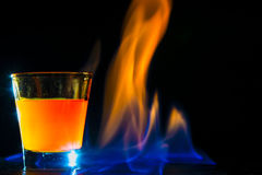 Cocktail flame Stock Photo