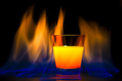 Cocktail flame Stock Image